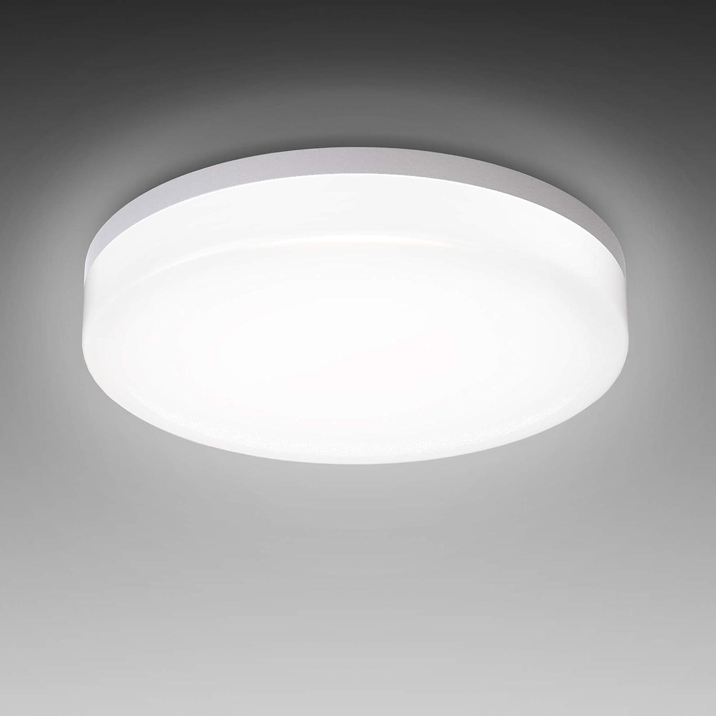 BKLicht I LED Deckenleuchte Bad I spritzwassergeschützt IP20 I 20W LED  Platine I 20.20K neutralweisse Lichtfarbe I Ø20cm I Feuchtraumleuchte I ...