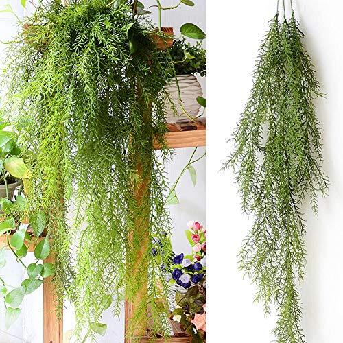 Kunstbloemen Hangplanten Wijnstokken Fern Perzisch Nep klimop Hangende bloemen Wijnstok Dennennaald voor thuis Bruiloft Decoratie