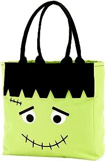 Custom Personalized Character Halloween Bag Trick or Treat Tote Storage Cat Pumpkin Princess Castle or Frankenstein (Frankenstein - Blank)