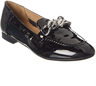 Donald Pliner Women's Nolin Chain Loafer Flats Shoes - Size 8, Color - Black