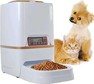 Sailnovo 6L Automatic Pet Feeder Food Dispenser for Dogs, Cats & Small Animals – Features Distribution Alarms, Portion Control & Voice Recording – Timer Programmable Up to 4 Meals a Day