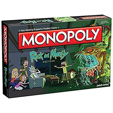 Monopoly Rick and Morty Board Game | Based on the hit Adult Swim series Rick & Morty | Offically Licensed Rick Morty Merchandise | Themed Classic Monopoly Game