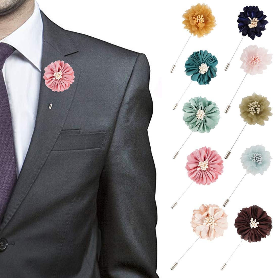 Pink Flower Lapel Pin Men/'s Wedding Suit