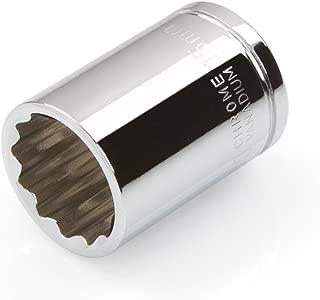 TEKTON 14171 3/8-Inch Drive by 15 mm Shallow Socket, Cr-V, 12-Point