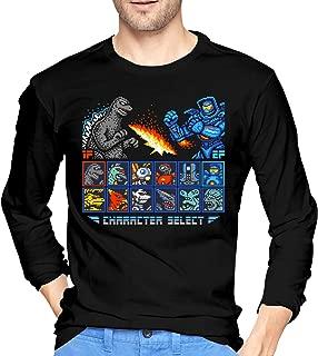 Kaiju Fighter Men's Leisure Long Sleeve T-Shirts