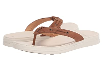 Sperry Adriatic Thong Skip Lace Leather (Tan) Women