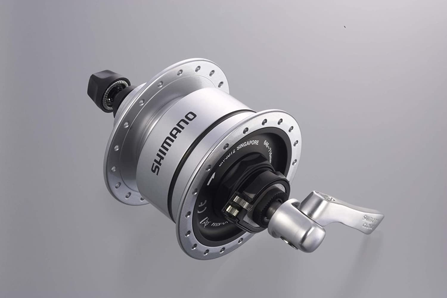 SHIMANO (Shimano) DH3D72 E2 6V3.0W center lock disc corresponding QR type 32H OLD  100mm DH3D72 clear EDH3D72BS