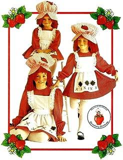 Girls Strawberry Shortcake Costume Butterick 6139 Vintage Sewing Pattern Size 7 - 10