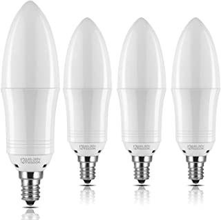 Yiizon E12 LED Candle Light Bulbs 12W 1200LM 100W Incandescent Bulbs Equivalent 6500K Daylight White Candelabra Bulb Non-Dimmable Small Edison Screw Candle Bulbs(Pack of 4)