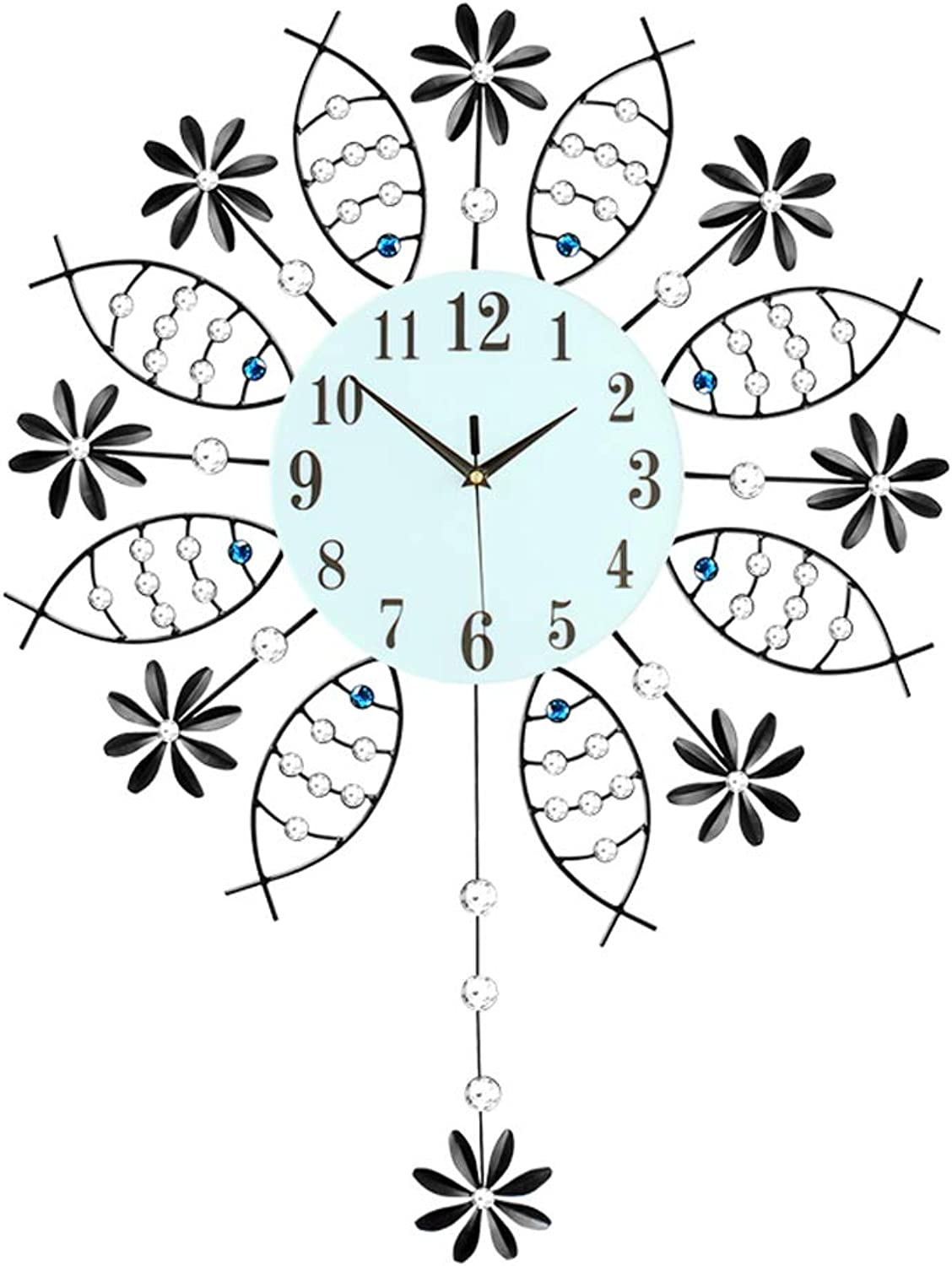 YONGMEI Wall Clock - Living Room Modern Creative Wall Clock Bedroom Silent Clocks Simple Art Decoration Wall Charts European Clock Quartz Clock Large (color   White, Size   72  56cm)