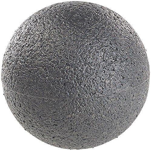 newgen medicals Massageball: Massage-Ball und Faszien-Trainer für Rücken & Co, Ø 8 cm, schwarz (Massage-Kugel)
