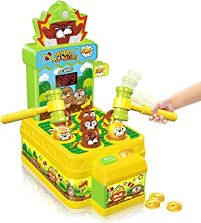 VATOS Whac-A-Mole Game, Mini Electronic Arcade Game with 2 Hammers, Pounding Toys Toddler Toys for 3 4 5 6 7 8 Years Old B...