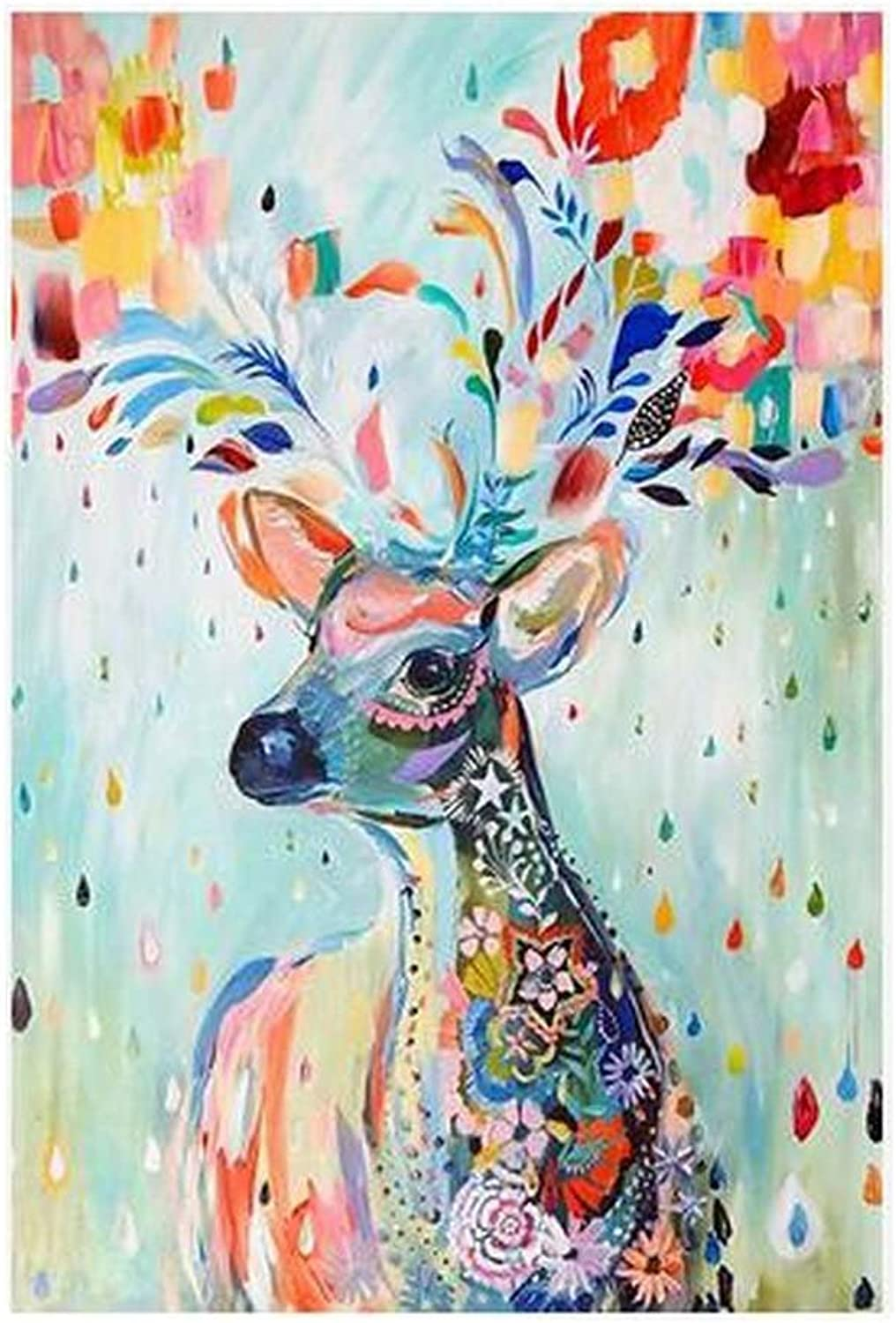 [colorful Deer] 1000 Piece Wooden Jigsaw Puzzles Classic Jigsaw Puzzles Toy