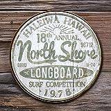 なまけ者雑貨屋 レトロアメリカンな雰囲気を手軽に演出!メタルサイン 「Hawaii ノースショア LONGBOARD」 #2054 ハワイアン ブリキ看板 ビーチ