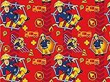Jersey-Stoff, Feuerwehrmann Sam,Stoff zum Schneidern und