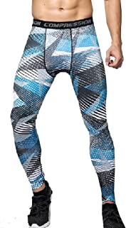 Mogogo Mens Compression Camouflage Quick Dry Sport Activewear Tights Legging