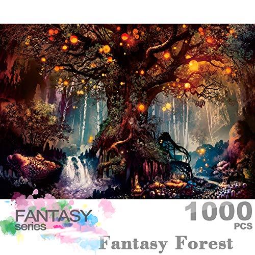 Ingooood- Puzzle 1000 pezzi - Fantasy Forest_IG-0622 - Giocattoli di intrattenimento per adulti Special Graduation o Compleanno Decorazione per la casa