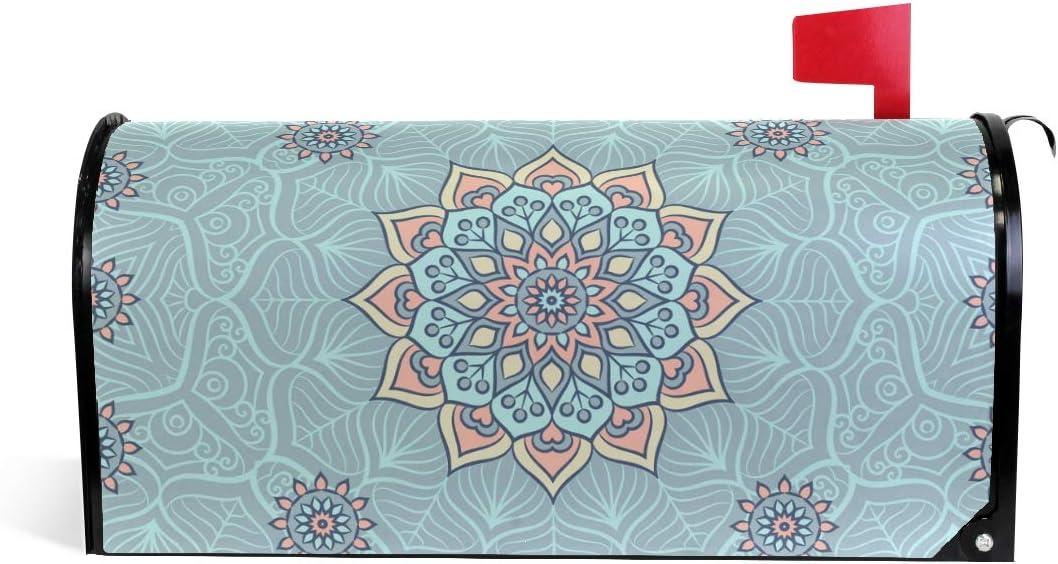 Printedin3D Indian Mandala Magnetic Mailbox Cheap SALE Virginia Beach Mall Start US for Cover Standar