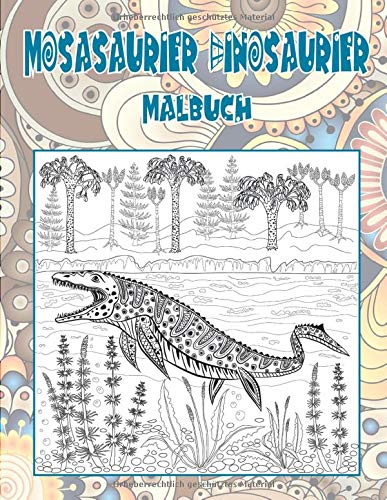Mosasaurier Dinosaurier - Malbuch