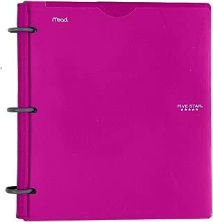 Five Star Flex NoteBinder, 1 Inch Binder, Customizable, Notebook and Binder All-in-One, Berry Pink/Purple (72522)