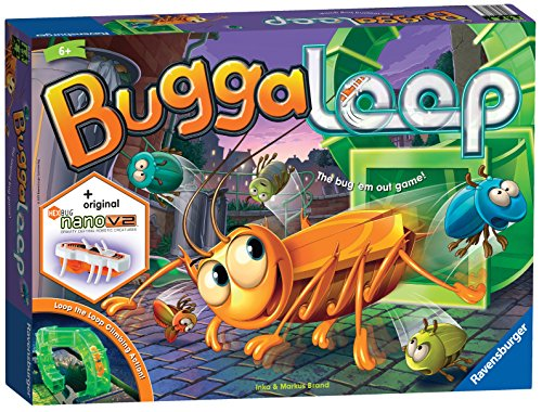 Ravensburger 21337 Buggaloop Game for Kids Age 6 Years and Up-Race Across The Board avoiding The Hexbug Nano