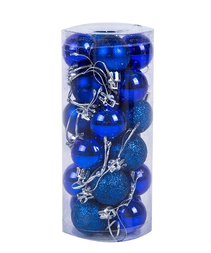 調べるモード切手Shellme クリスマスボール ライトボール プラスチッククリスマスボール オーナメント ツリー飾り パーティー お祝い 飾りボール 24個セット 6cm カラーボール デコレーション クリスマス飾り おもちゃ 雰囲気満点 無地 選べる11色