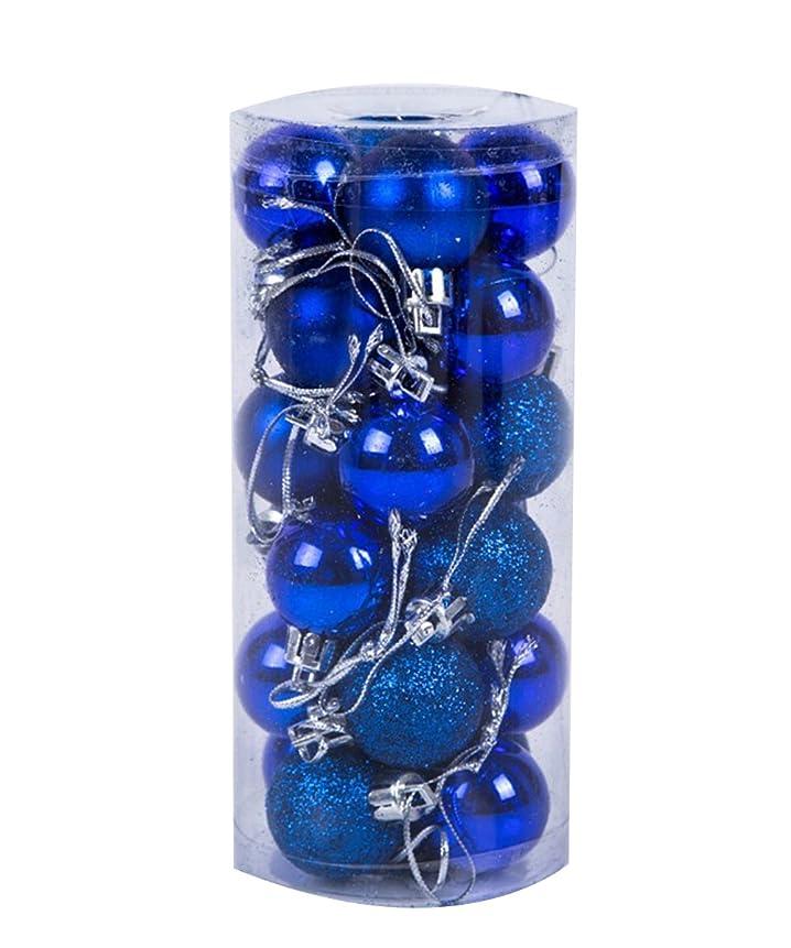 ラウズ公平考古学者Shellme クリスマスボール ライトボール プラスチッククリスマスボール オーナメント ツリー飾り パーティー お祝い 飾りボール 24個セット 6cm カラーボール デコレーション クリスマス飾り おもちゃ 雰囲気満点 無地 選べる11色