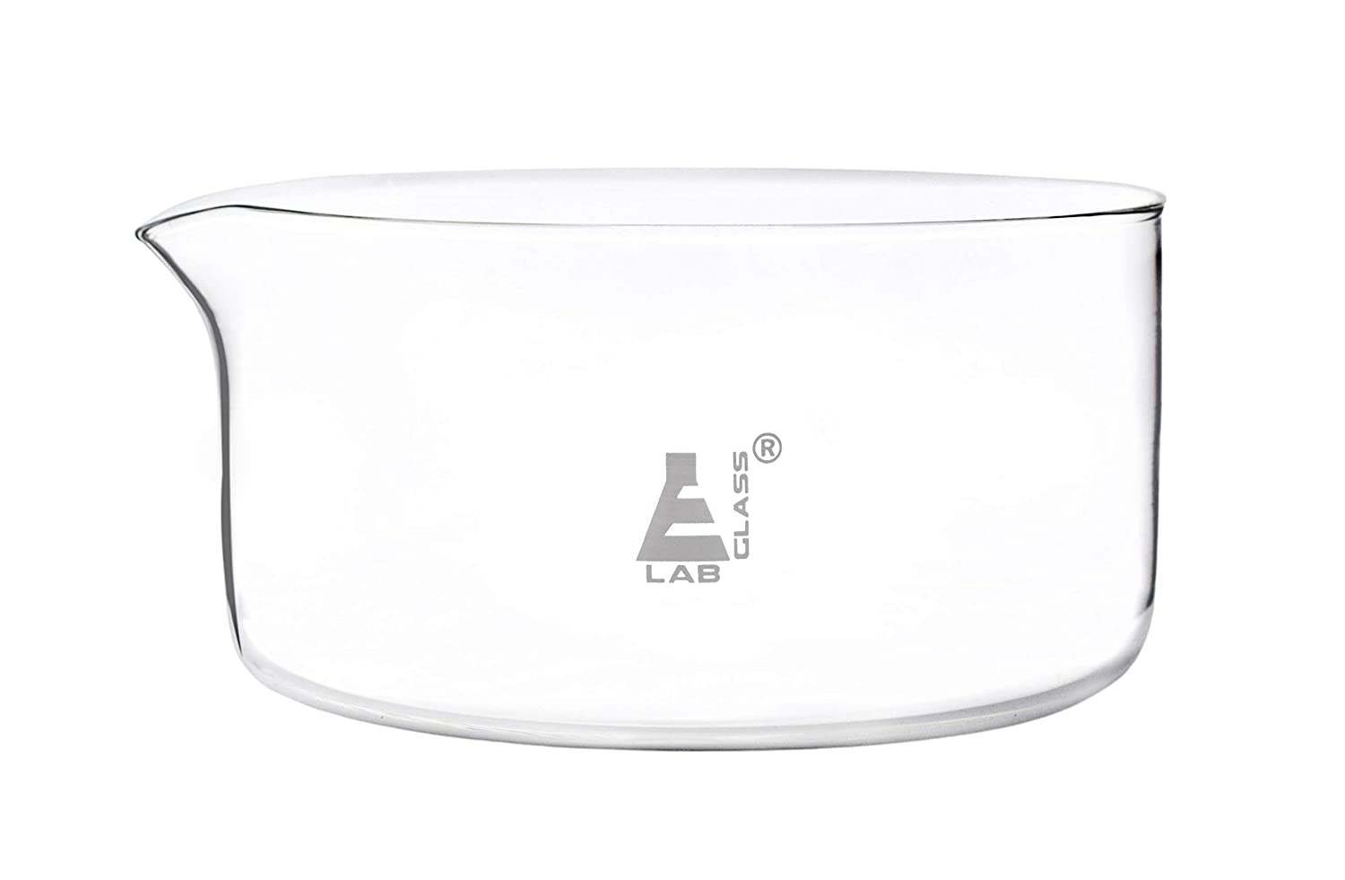 Crystallizing Dish 2000ml Max 86% OFF - Flat Borosilic Bottom Now on sale Spout with