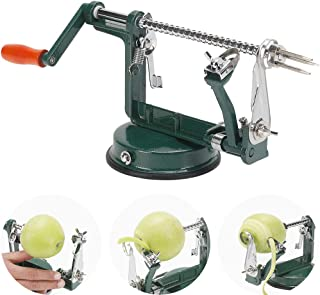 Apple Peeler and Corer, Stainless Steel Apple Corer Slicer Peeler Spiral Apple/Potato Peeler Slicer Corer Durable Heavy Duty Blade Multicolor Peelers