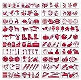 CYJZHEU Plantillas Pintura Set, 40 Piezas Stencil Plantillas Infantil Plantilla Hueca Reutilizable para Cuaderno Diario Dibujo de Bricolaje, Tarjetas de Regalo Manualidades de Personajes 17,5 x 26 cm