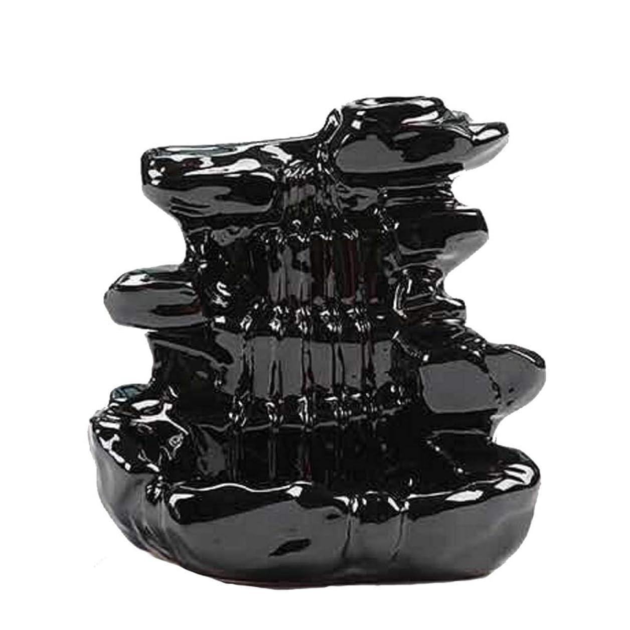 食欲理想的には賃金芳香器?アロマバーナー 家の装飾逆流香バーナーセラミックコーン滝香ホルダー仏教香炉 アロマバーナー芳香器 (Color : B)