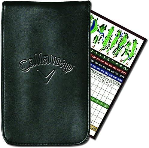 Callaway Unisex-Adult Callaway Golf Leather Scorecard Holder C40104, Black, One Size