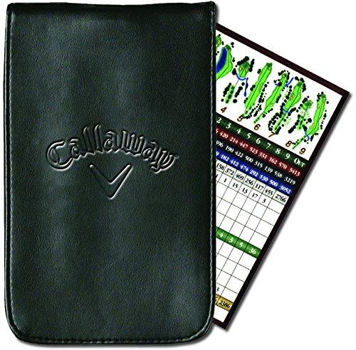 Cubierta exterior de cuero sintético durable Sostiene scorecard estándar Gran idea de regalo para el golfista en su vida