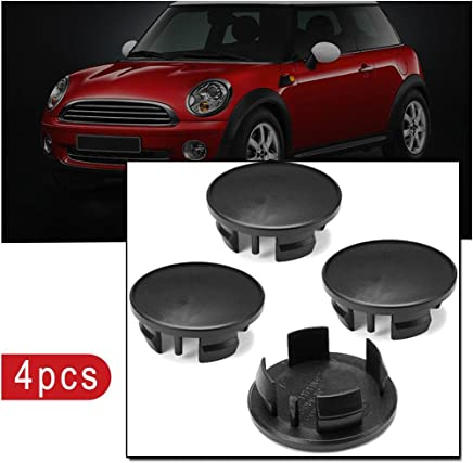 RUNGAO 4 piezas 54 mm negro ABS coche emblema insignia llanta centro Hub tapas para Mini