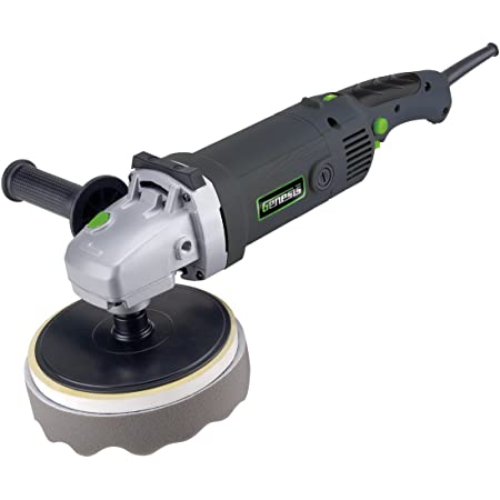 Genesis Gsp1711 11 Amp 7 Variable Speed Sander Polisher With Foam Polishing Pad Hook And Loop Backer Pad Sanding Disc Rubber Backing Pad And Dual Position Assist Handle Amazon Com