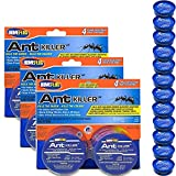 Home Plus Ant Killer (3 Pack), Metal Ant Traps Indoor & Outdoor, Ant Bait Station, Pet Resistant Ant Killer, Effective Ant Control System, 12 Bait Traps Total
