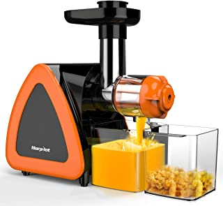 Juicer Machines, Morpilot Slow Masticating Juicer, Reverse Function, Cold Press Juicer Machine, Easy to Clean with Brush for High Nutrient Fruit & Vegetable Juice, Quiet Motor juicer