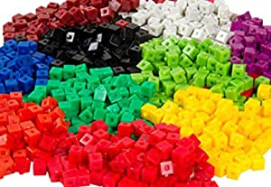 hand2mind Interlocking Centimeter Unit Cubes, Plastic Cubes for Early Math, Connecting Cubes for Kids, Math Manipulatives, Counting Cubes for Kids Math, Preschool Classroom Supplies (Set of 1000)