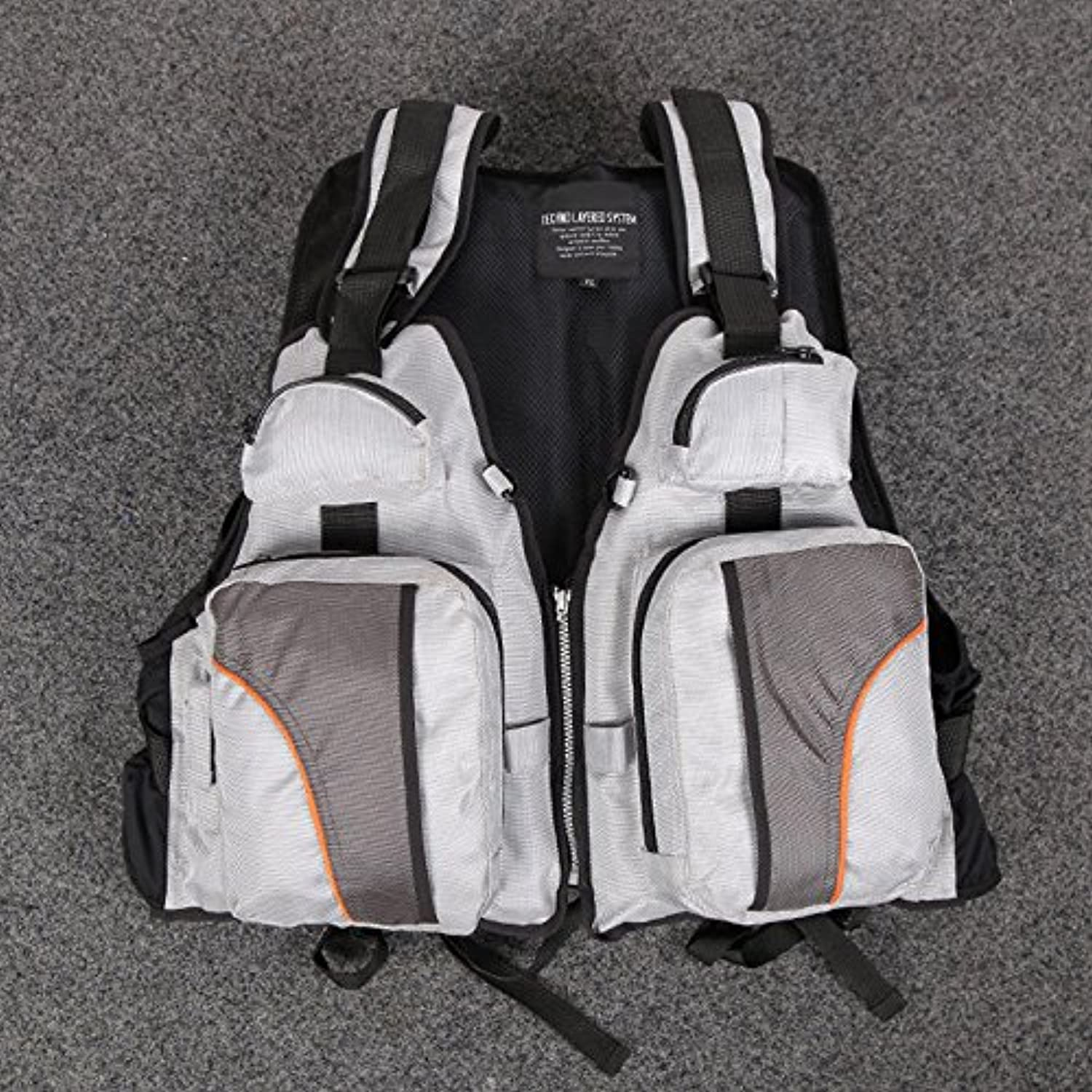Yiwa Adult Fly Fishing Life Jacket Adjustable Waterproof Breathable Safe Pocket Vest