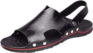 MTENG Men's Casual Beach Shoes Creek Shoes Thick-Soled Non-Slip Breathable Sandals (38-48)