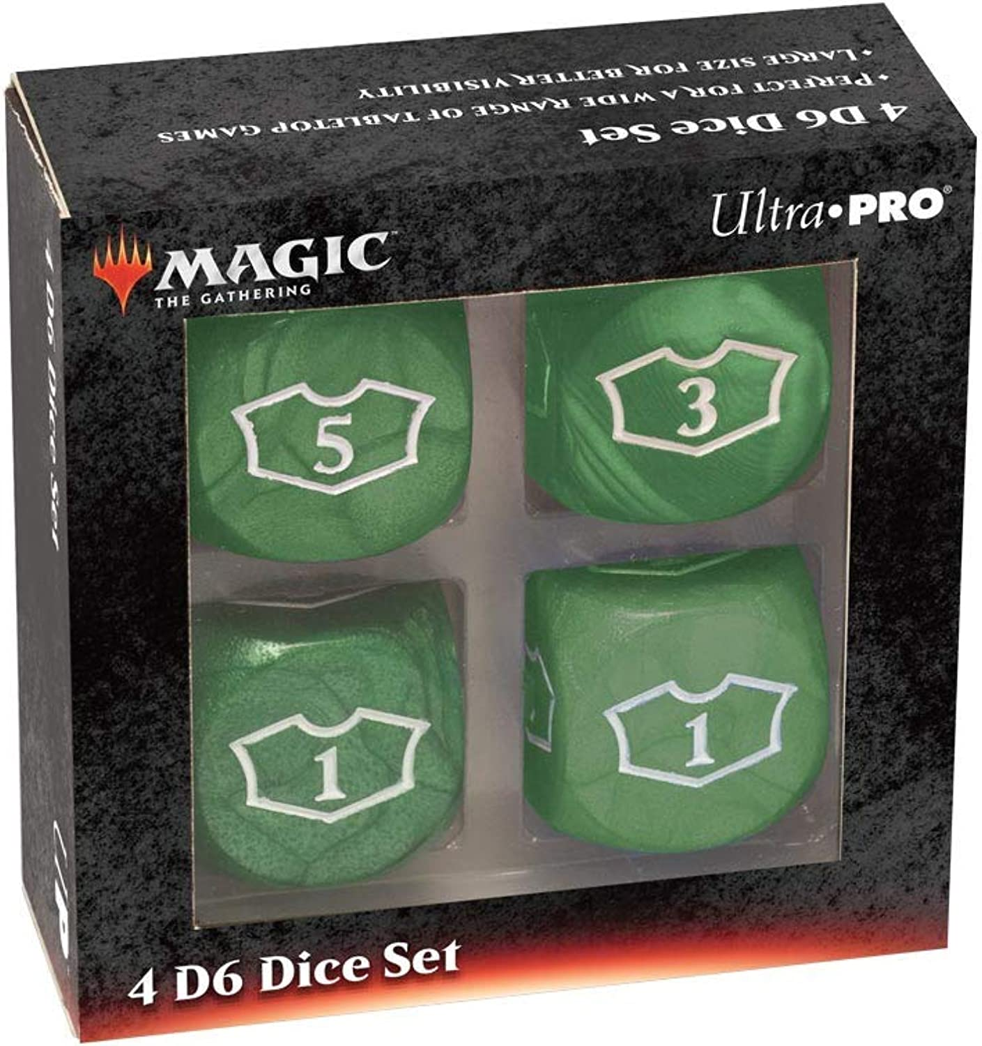Ultra Pro Magic  The Gathering Deluxe 22Mm Green Loyalty Dice Set