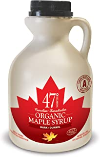 47 North Canadian Organic Maple Syrup, Single Source, Grade A, Dark Robust, 500ml