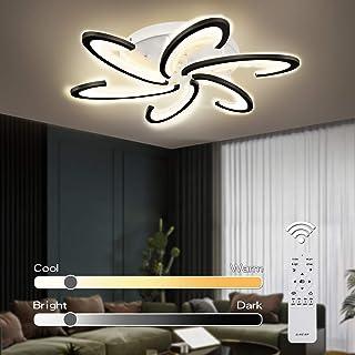 چراغ چراغ سقفی Jior برای اتاق نشیمن ، مدرن ، مطالعه ، کنترل از راه دور NiteCore Extreme Remote 72W 5760LM 6 Head 31.5inch