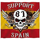 Hells Angels WorldWide Support Store/Big Red Machine World - Hells Angels pegatina Support 81 bandera español 9cm.