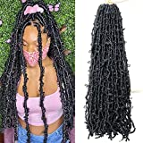 LMZIM 36 Inch Butterfly Crochet Hair 5 Packs Long Faux Locs Crochet Braids Hair for Black Women