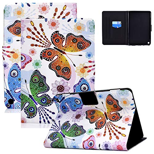 Fire HD 8 Plus Tablet Case, Fire HD 8 Case(10th Gen, 2020 Release), Coopts Slim Auto Sleep Wake PU Leather Protective Folding Stand Card Slots Case for Amazon Fire HD 8 2020/Fire HD 8 Plus, Butterfly