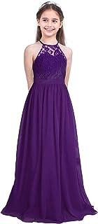 easyforever Kids Girls Princess Chiffon Flower Girl Dress Pageant Wedding Bridesmaid Maxi Dress