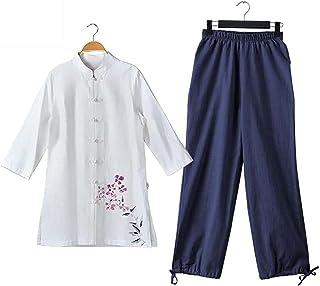 Tai Chi odzież damska, mężczyźni kobiety sztuki walki garnitur bawełna tai chi mundurek chiński kung fu odzież skrzydła ch...