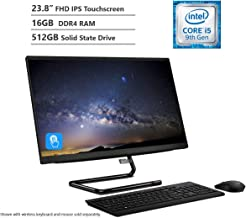 """$839 » KKE Upgrades 2020 IdeaCentre A340 23.8"""" FHD Touchscreen All-in-One Computer, Intel 6-Core Processor i5-9400T, 16GB DDR4 Memory, 512GB PCIe SSD, 802.11ac + Bluetooth, USB 3.1, HDMI Out, Win10"""