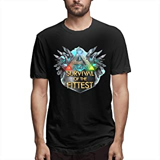 Men's Casual Cotton Cool ARK Survival Evolved Logo Graphic Tee Shirts Short Sleeve O-Neck Sports Tops T-Shirt